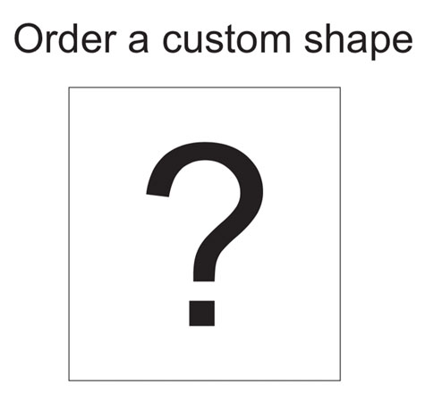 Smooth Plastic Custom Shape Name Tag