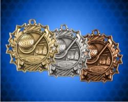 2 1/4 Inch Golf Ten Star Medals