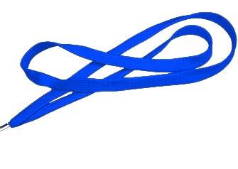Royal Blue Flat Woven Lanyard