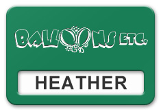 Reusable Smooth Plastic Windowed Name Tag: Kelley Green with White - LM922-932