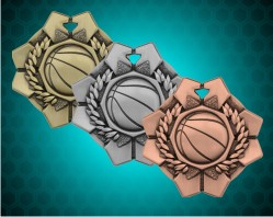 2 Inch Basketball Imperial Medal