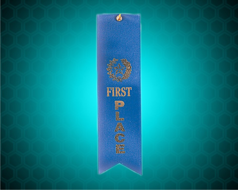 Blue 1st Place Carded Ribbon