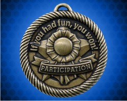 2 inch Gold Participation Value Medal