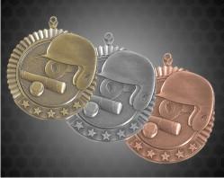 2 3/4 inch Baseball Star Medal