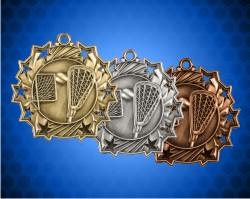 2 1/4 Inch Lacrosse Ten Star Medals