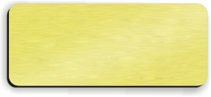 Blank Smooth Plastic Name Tag: European Gold and Black - LM 922-754