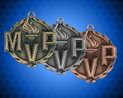 1 3/4 inch MVP Wreath Medal