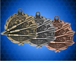 1 3/4 Inch Darts Wreath Medal
