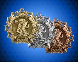 2 1/4 inch Wrestling Ten Star Medals