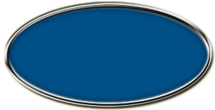 Blank Silver Oval Framed Nametag with Sky Blue