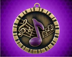 2 inch Music 3-D Medal
