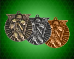 2 Inch Football Victory Medals