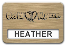 Reusable Smooth Plastic Windowed Name Tag: Brushed Copper with Black - LM922-894