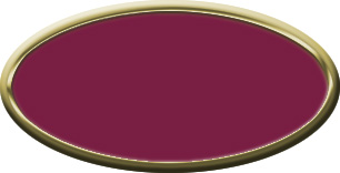 Blank Oval Plastic Gold Nametag with Claret