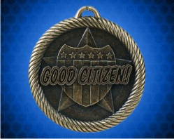 2 inch Gold Good Citizen Value Medal