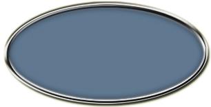 Blank Silver Framed Nametag China Blue