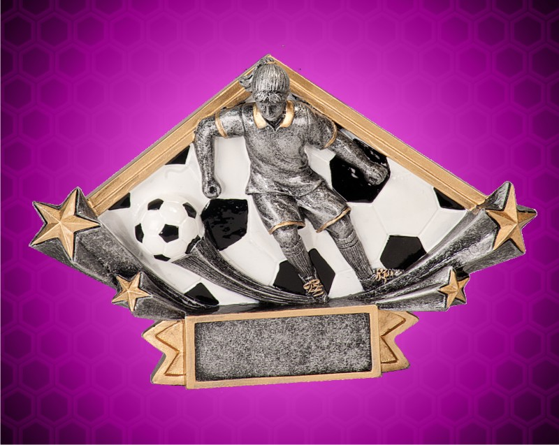 5 3/4 x 8 1/2 Inch Female Soccer Diamond Star Resin
