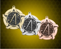 2 1/4 inch Math Super Star Medals