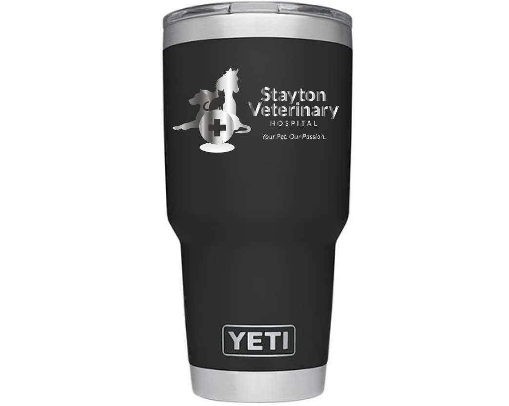 Custom 30 oz Yeti Rambler Black