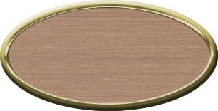 Blank Oval Plastic Gold Nametag with Brushed Copper