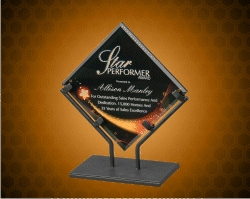 Star Galaxy Acrylic Plaques With Iron Stand