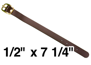 Brown Leatherette Strap Luggage Tag Fastener