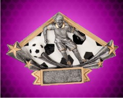 Female Soccer Diamond Star Resin