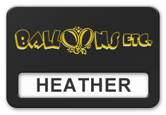 Reusable Smooth Plastic Windowed Name Tag: Black with Yellow - LM922-407