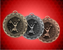 2 5/16 inch Cheerleader Spinner Medal