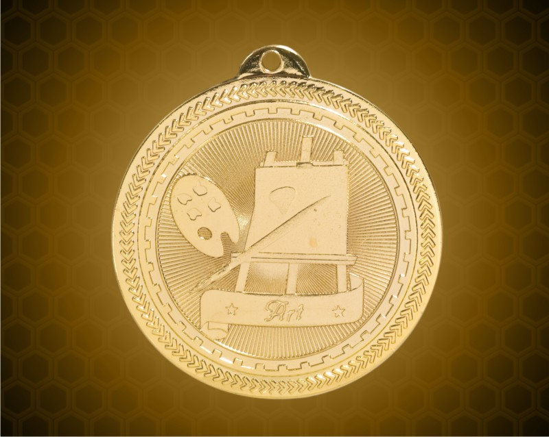 2 inch Gold Art Laserable BriteLazer Medal