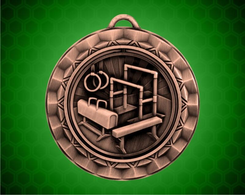 2 5/16 inch Bronze Gymnastics Spinner Medal