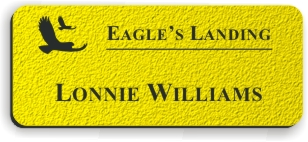 Textured Plastic Nametag: Acid Yellow with Black - 822-774