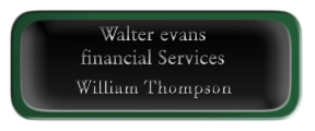 Metal Name Tag: Black and Silver with Epoxy and Green Metal Border