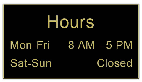 Smooth Plastic Sign: Black with Gold - LM922-417