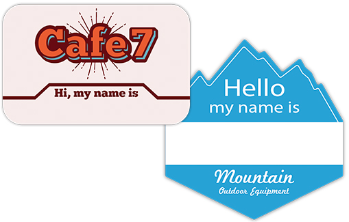 Custom Hello My Name Is Stickers