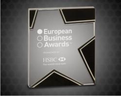 Silver/Black Star Glass Awards