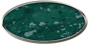 Blank Silver Oval Framed Nametag with Verde