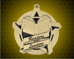 2 1/4 inch Readers are Leaders Super Star Medals