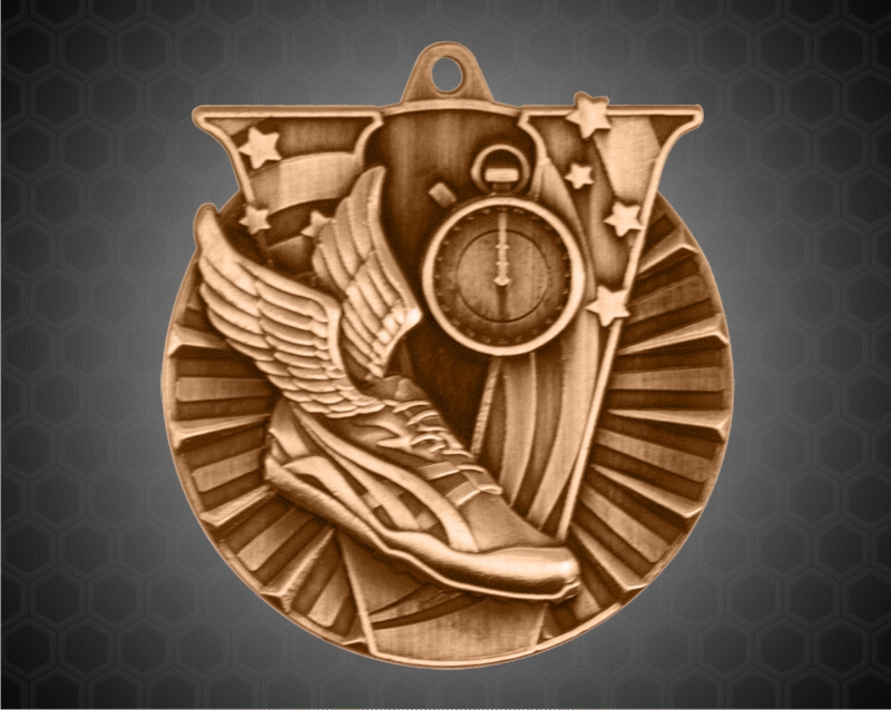 2 Inch Bronze track Victory Medal