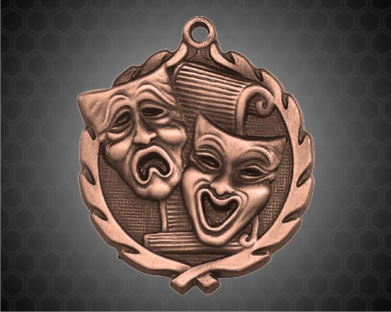 1 3/4 inch Bronze Drama Wreath Medal