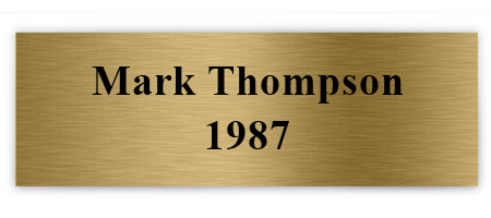 Printed Plaque Plate: Brushed Gold