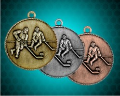 1 1/2 Inch Hockey Die Cast Medal