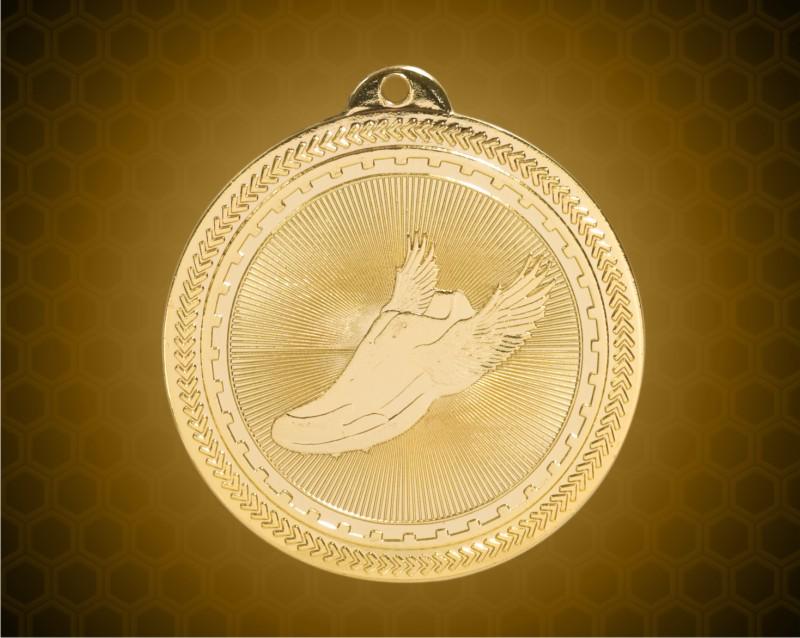 2 inch Gold Track Laserable BriteLazer Medal