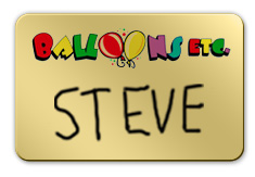 Shiny Gold Dry Erase Name Tag with Logo