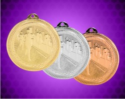 2 Inch Cross Country Laserable Britelaser Medals
