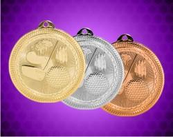 2 Inch Golf Laserable Britelaser Medals