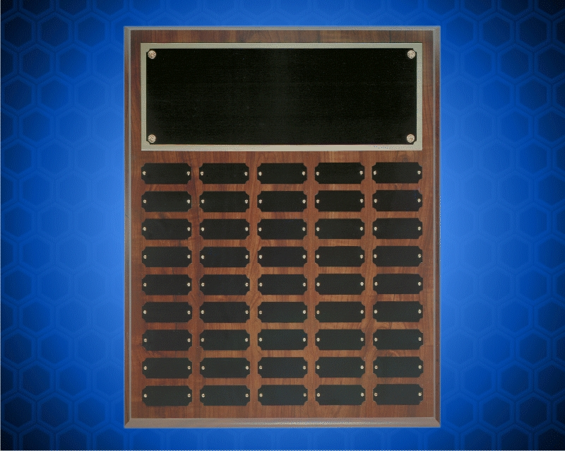 16 x 20 Inch Cherry Finish Perpetual Plaque (45 Plates)