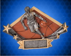 Male Basketball Diamond Star Resin