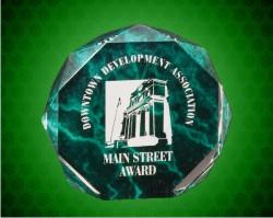 6 Inch Green Marble Octagon Acrylic Award