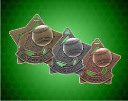 2 1/4 inch Baseball Star Medals